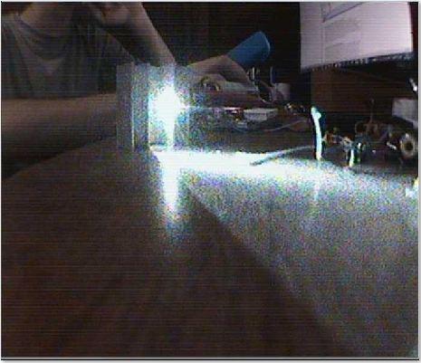 Laser de Impressora rodando a 10mW sem lentes