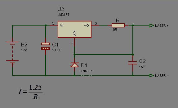Driver de corrente constante para Diodo Laser