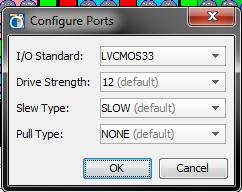 Trocando I/O Standard para LVCMOS33
