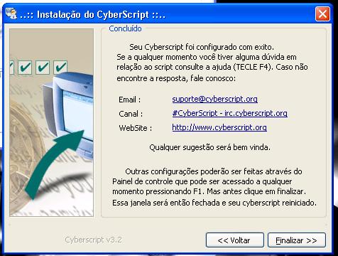 Configuração do CyberScript