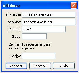 Configurações do Servidor Shadowworld