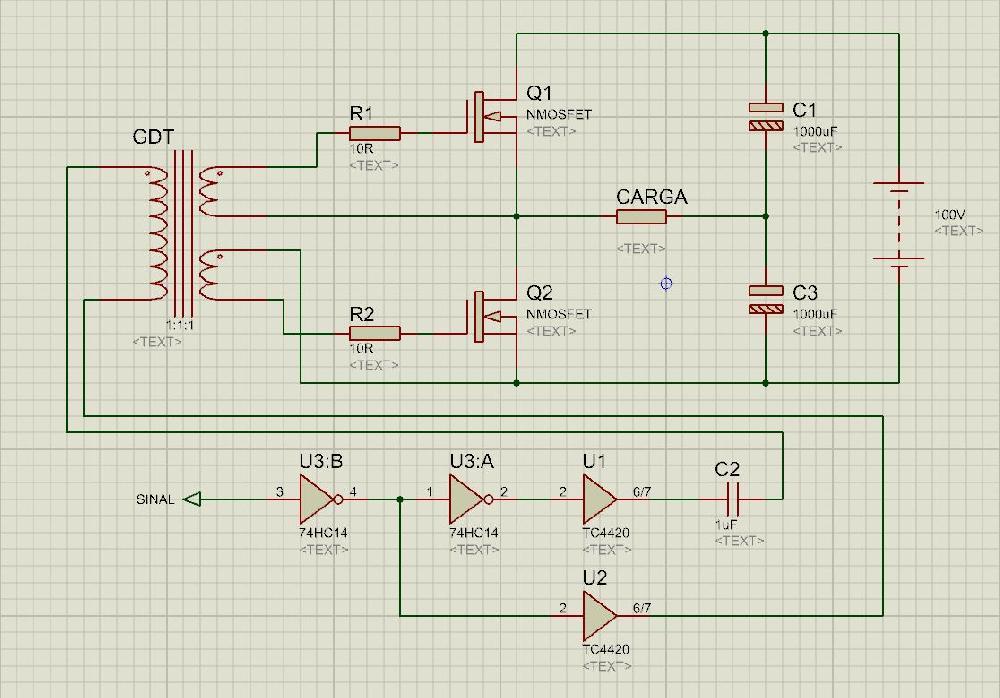 Interface de Alta Potência com Half-Bridge de Mosfets