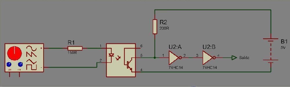 Interface de Isolamento Galvânico com Opto-Acoplador